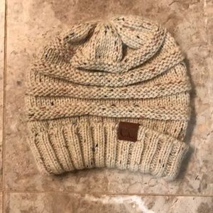 C C oversized beanie hat